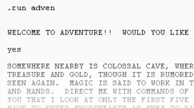 Colossal Cave Typing Adventure